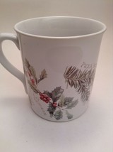 Marjolein Bastin Coffee Tea Mug Cup Botanical Theme Holly Berry Plants -ve - $7.60