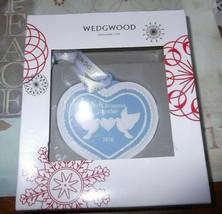 New Wedgwood Blue Jasperware First Christmas Together Ornament 2017 - $23.38