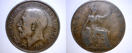 1920 Half Penny Coin - Great Britain - UK - England - $4.49