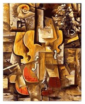 Paint By Numbers Kit Picasso's Violin and Grapes Van-Go 40CMx50CM Canvas - $12.38