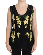 Dolce & Gabbana Black Floral Lace Embroidered Blouse - $811.01