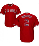 Men's Los Angeles Angels #2 Andrelton Simmons Jersey Red Cool Base Stitched - $38.99