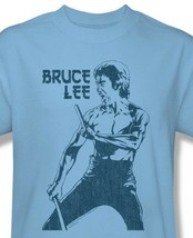 Bruce Lee T-shirt Fight Stance vintage 70's Dragon distressed cotton tee BLE113 image 1