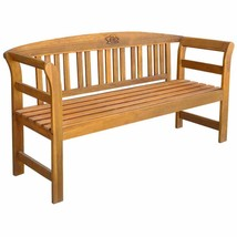 "vidaXL Solid Wood Garden Bench 61.8"" 3 Seater Patio Outdoor Chair Seating - $105.99"