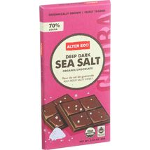 Alter Eco Americas Organic Chocolate Bar - Deep Dark Sea Salt - 2.82 oz Bars - C - $51.99+