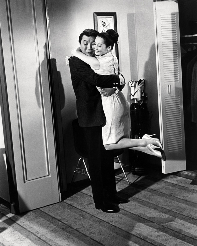Primary image for Flower Drum Song James Shigeta Holds Nancy Kwan 16x20 Canvas