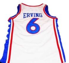 Julius Erving Dr J #6 Philadelphia Basketball Jersey Sewn White Any Size image 2