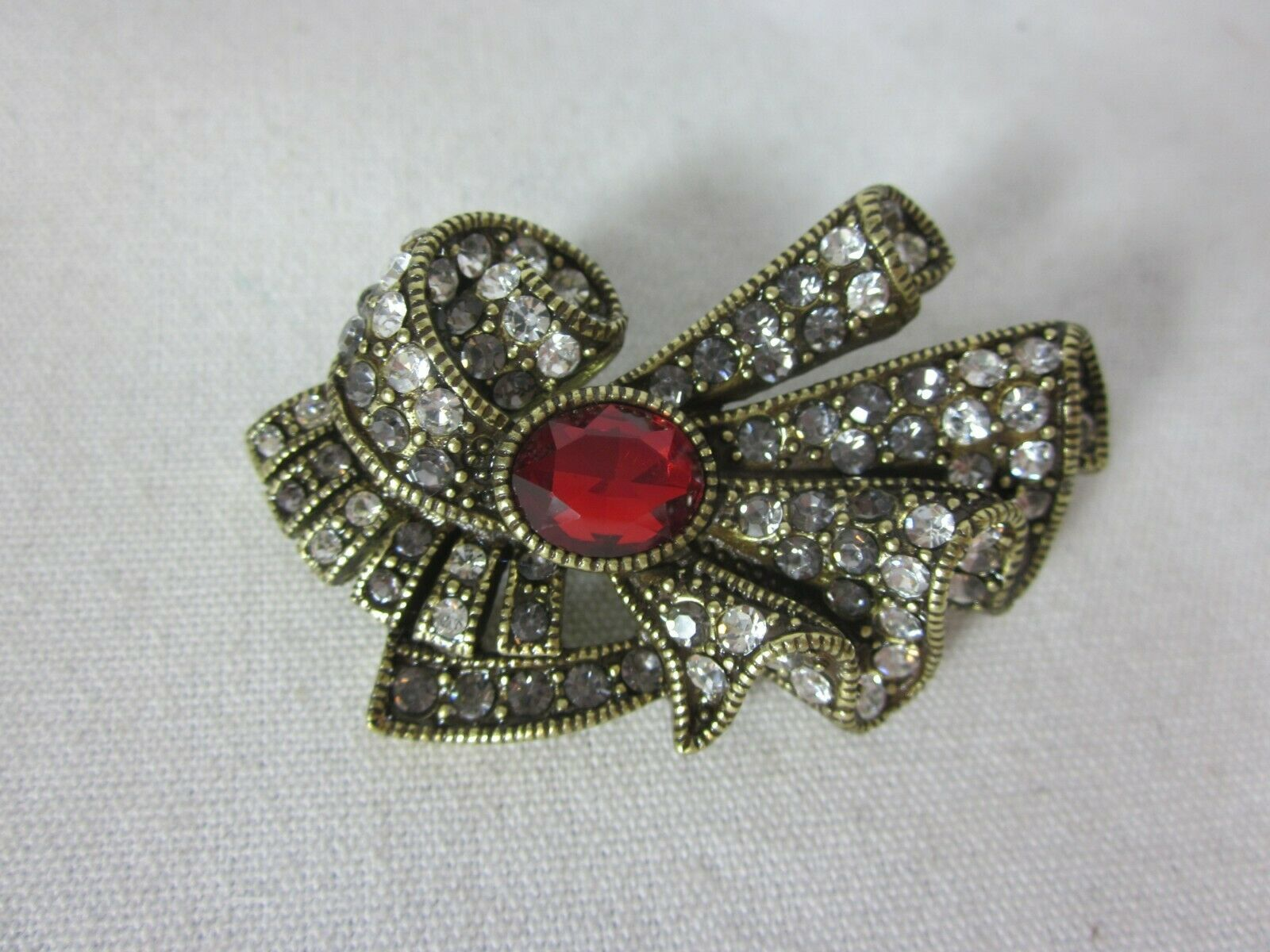Primary image for Heidi Daus Collector's Edition Swarovski Crystal Art Deco Ribbon Pin Brooch