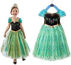 Kids Anna Coronation Costume, Anna Coronation Dress Halloween Costume for Girls - $9.90