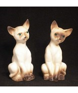 Siamese Cats Salt & Pepper Shakers Artmark Originals Figurines Made in J... - $17.82
