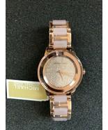Michael Kors Women Kinley Three-Hand Blush Rose Gold-Tone Stainles WATCH... - $148.67