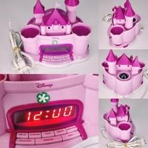 Disney Princess Alarm AM/FM Clock Radio Pink Castle + Songs Tested Working - $26.95