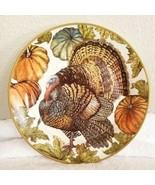 Pottery Barn HERITAGE TURKEY Salad Plate THANKSGIVING - $79.00