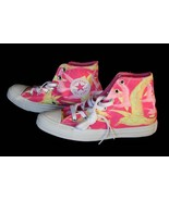 Converse Trendy Neon Pink & Yellow BIRDS OF PARADISE HI TOP Shoes NWT DI... - $59.99