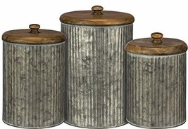 Primitives by Kathy 37690 Tin Canisters, Galvanized Metal - $47.97