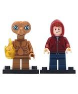 2pcs/set Elliott & E.T - The Extra Terrestrial Alien Custom Minifigures Toy - $6.99