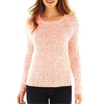 St. John's Bay Ivory/neon Pink Sweater MSRP $44.00 New Size L, XL - $16.99