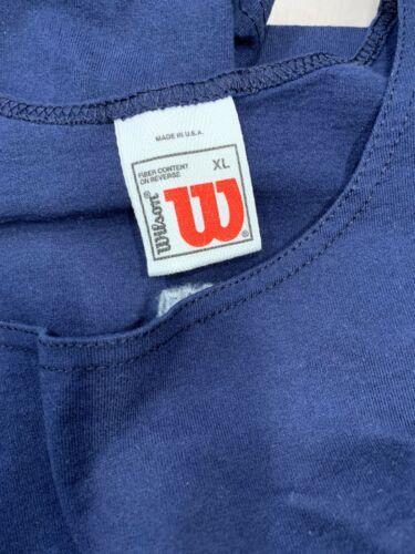 Vintage Wilson Neuf Marine Bleu Débardeur T-Shirt Hommes Taille XL