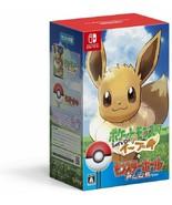 Nintendo Switch Pokemon Let's Go Eevee Monster Ball Plus Set Pack Japan ... - $107.53