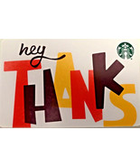 Starbucks 2018 Hey Thanks (Canada Release) Recycled Gift Card New No Value - $2.99