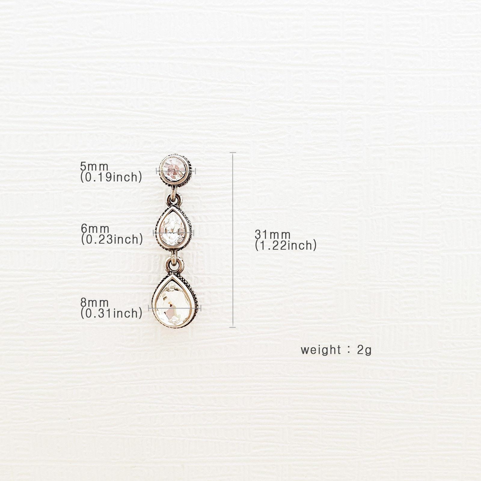Tiered Round Water Drop Teardrop Shape Made With Swarovski Stone Dangle Earrings image 10