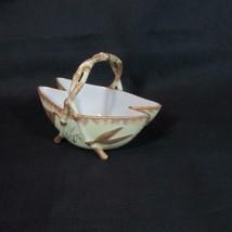Wonderful Twig Handled 2 Teardrop Porcelain Basket, Quality China, Signe... - $17.75