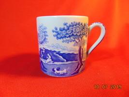 "2 3/8"", Bone China, Demitasse Cup, Spode, Italian Blue Pattern, Circa 1970. - $4.99"