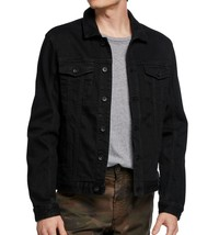 John Varvatos Star USA Men's Long Sleeve Denim Trucker Button Jean Jacket Black - $188.12