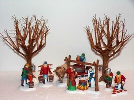 "Dept 56 Heritage Village ""Tapping the Maples"" Set of 7  -new in box - $38.61"