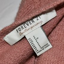 Forever 21 Contemporary Women's Rose Pink Tie-Back Crop Knit Sweater Size S image 3
