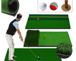 Golf Backyard Practising Pad Indoor Swing Practice Mat With Golf Ball Rubber Tr