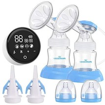 Electric Double Breast Pump Eccomum Breastfeeding Pump with 4 Modes & 9 ... - $84.82