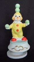 Vtg Enesco Send in the Clowns Juggling Music Box Circus Happy Cheerful - $19.79