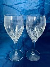 "Longchamp Cristal D' Arques Stemmed Wine Glasses Set of Two 7-1/2""  - $18.69"
