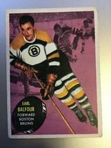 1961-62 Topps Earl Balfour #3 Hockey Card VG Condition Boston Bruins  - $9.99
