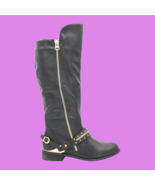 WILD DIVA Oksana-02 Women's Tall Faux Leather Boots - Black - Size 6.5 -... - $28.04