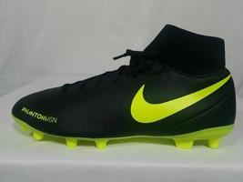 Nike Hypervenom Phantom VSN MG Soccer Cleats Size 9 Men's Black Volt AJ6959-007 - $32.49