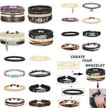 Fibo Steel 15-16 Pcs Braided Leather Bracelets For Men Women Woven Cuff ... - $19.01