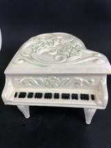 Vintage Handmade Ceramic Music Box Piano 1980's - $24.75