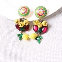 2017 European and American female earrings catwalk section Baroque earri... - $20.92
