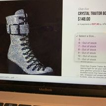 Wut? sickening CRYSTAL TRAITOR BOOTS SIZE 10 IN HAND! Ships Today! image 10