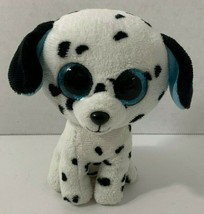 Ty Beanie Boos Fetch Dalmatian Puppy Dog Plush blue eyes ears 2013 black... - $6.92