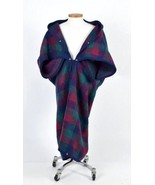 Biederlack Blanket Camp Throw Blue Red Green Check Plaid Zip Snap Button... - $28.70