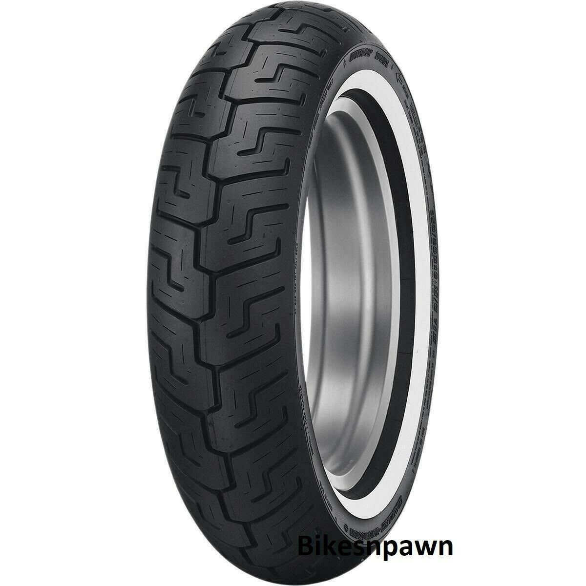 New Dunlop D401 150/80B16 Harley Davidson Rear Medium Whitewall MWW Tire 71H TL