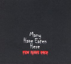 Many Have Eaten Here Few Have Died Funny Halloween Black Waffle Weave Towel - $21.98