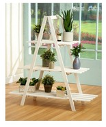 3 Tier Wooden Shelving Unit A - Frame Wood Shelf Stand Display Storage F... - $87.98