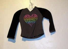 The Children's Place Girls Hooded Top with Butterfly Graphic Size XS 4 - $6.62