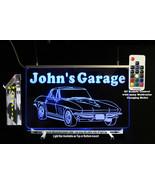 Custom Corvette Sign, LED, Man Cave Bar Sign - Lighted Sign - Lighted ca... - $96.03+