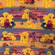 Scentsationery  VINTAGE LISA FRANK PUPPIES & Sandcastles Sheet S951-04 Roses image 2