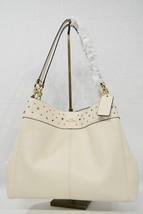 NWT Coach F22314 Stardust Studded Leather Lexy Shoulder Bag in Chalk - O... - $279.00